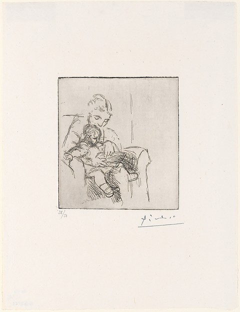 Mother and Son, Pablo Picasso (Spanish, Malaga 1881–1973 Mougins, France), Etching