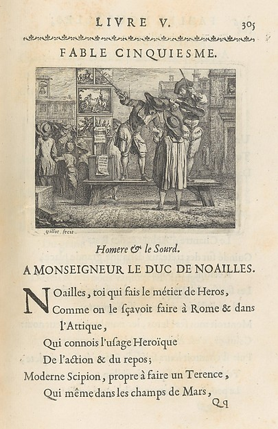Fables Nouvelles, Dediées au Roy, Lamotte-Houdar (French, 1672–1731), Printed book with etched illustrations