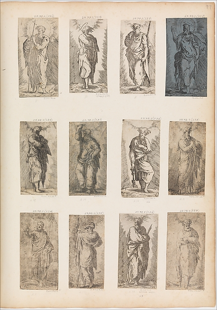 Christ, Etched by Master F. P. (Italian, active 16th century), Etching