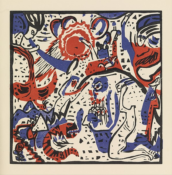 Klänge, Made and written by Vasily Kandinsky (French (born Russia), Moscow 1866–1944 Neuilly-sur-Seine), Book: illustrated with woodcuts and color woodcuts