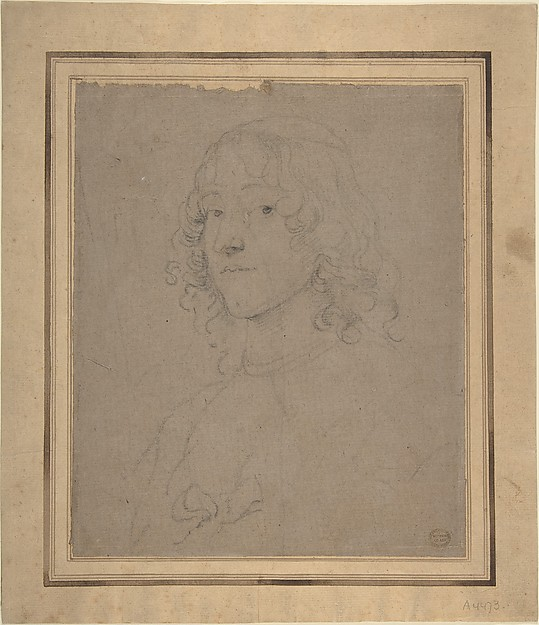 Portrait Study, Anthony van Dyck (Flemish, Antwerp 1599–1641 London), Black chalk