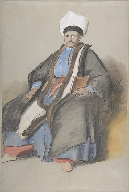 Portrait of Abram Jacob Messir, Sir David Wilkie (British, Cults, Scotland 1785–1841 off Gibraltar), Colored chalks and watercolor with white gouache on gray paper