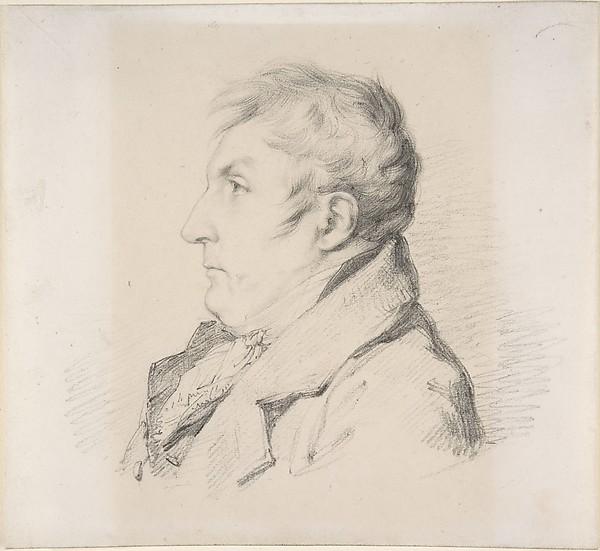 Portrait of Louis-Francois Bertin, l'ainé, Anne Louis Girodet-Trioson (French, Montargis 1767–1824 Paris), Black chalk on off-white wove paper