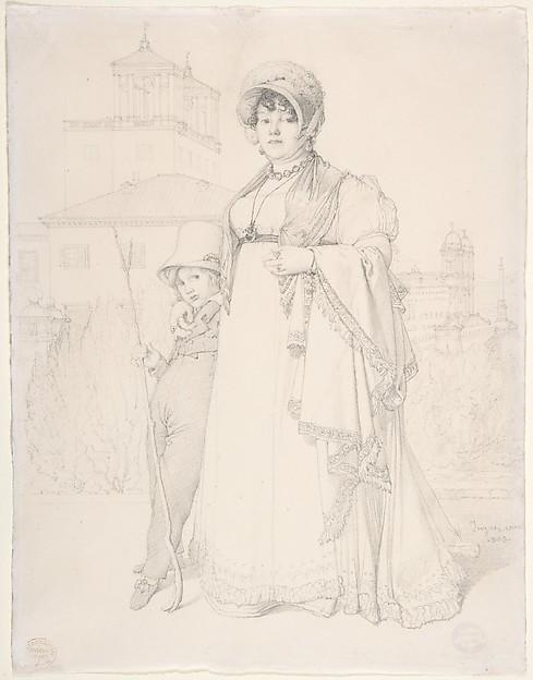Madame Guillaume Guillon Lethière, née Marie-Joseph-Honorée Vanzenne, and her son Lucien Lethière, Jean Auguste Dominique Ingres (French, Montauban 1780–1867 Paris), Graphite
