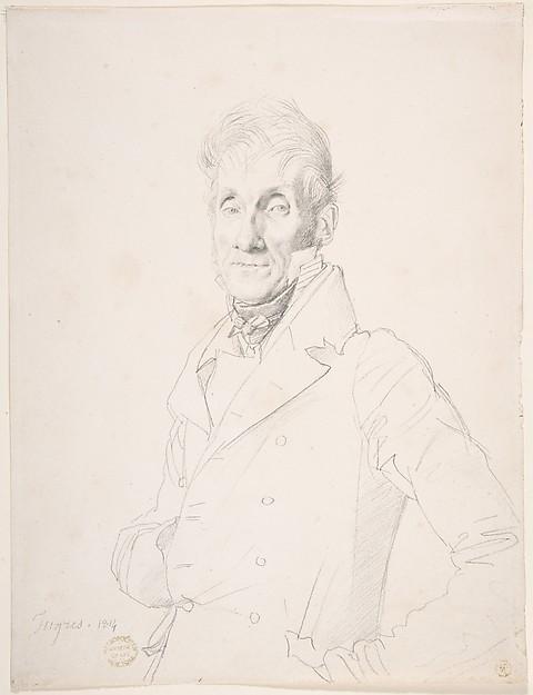 Portrait of a Man, Jean Auguste Dominique Ingres (French, Montauban 1780–1867 Paris), Graphite