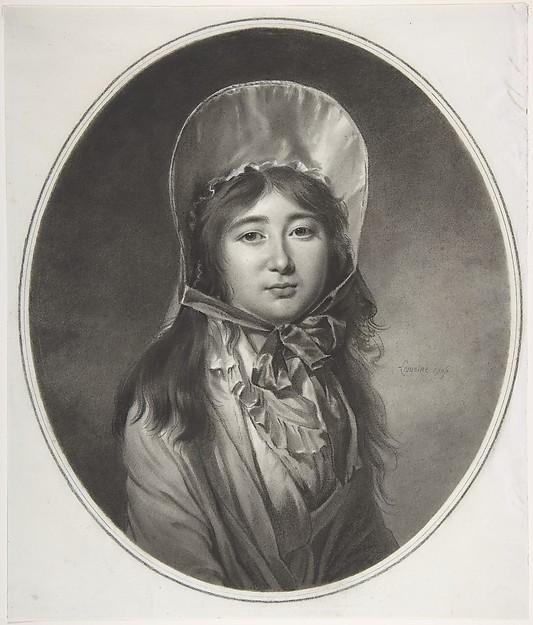 Madame Claire Philippe de La Pierre (née da Cunha), Jacques Antoine Marie Lemoine (French, Rouen 1751–1824 Paris), Black chalk, stumping, with white highlights, on white paper