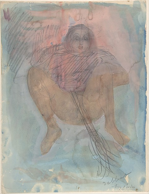 Witch's Sabbath (Sabbat), Auguste Rodin (French, Paris 1840–1917 Meudon), Watercolor, gouache, and graphite on paper