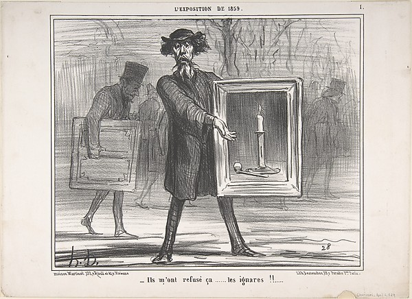 They Refused This...the Ignoramuses!! (Ils m'ont refusé ça...les ignares!!), Honoré Daumier (French, Marseilles 1808–1879 Valmondois), Lithograph; second state