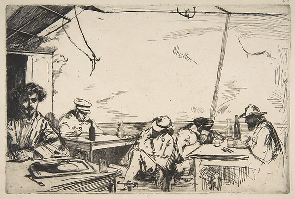 Soupe à trois sous, James McNeill Whistler (American, Lowell, Massachusetts 1834–1903 London), Etching; only state (Glasgow); printed in black ink on fine cream laid paper