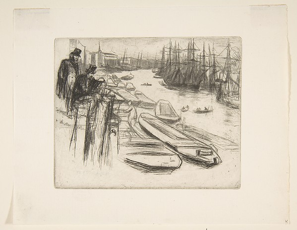 The Little Pool, James McNeill Whistler (American, Lowell, Massachusetts 1834–1903 London), Etching and drypoint; ninth state of nine (Glasgow); printed in black ink on very fine cream laid paper