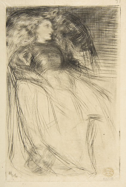 Weary, James McNeill Whistler (American, Lowell, Massachusetts 1834–1903 London), Drypoint; fourth state of six (Glasgow); printed in black ink on tissue weight ivory Japan