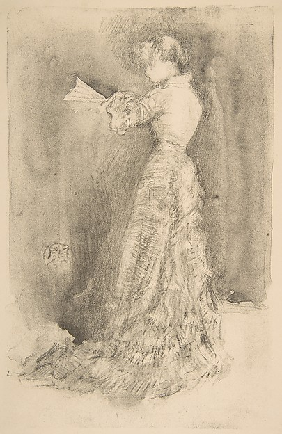 The Toilet, James McNeill Whistler (American, Lowell, Massachusetts 1834–1903 London), Lithotint, with scraping and incising, on a prepared half-tint ground; second state of five