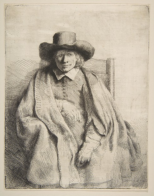 Clement de Jonghe, Printseller, Rembrandt (Rembrandt van Rijn) (Dutch, Leiden 1606–1669 Amsterdam), Etching, drypoint, and engraving; first of six states
