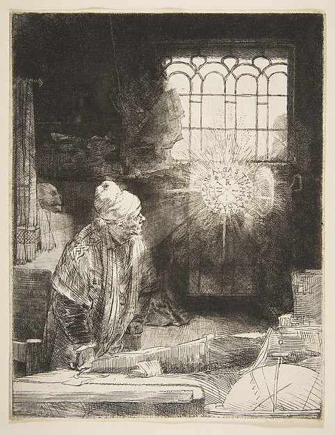 Faust, Rembrandt (Rembrandt van Rijn) (Dutch, Leiden 1606–1669 Amsterdam), Etching, engraving and drypoint; first of seven states