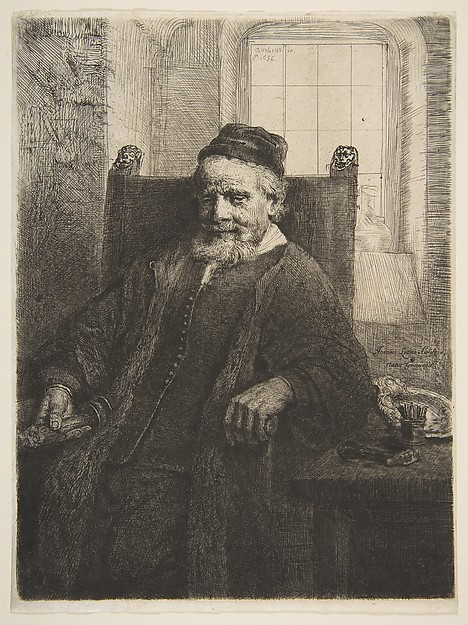 Jan Lutma, Goldsmith, After Rembrandt (Rembrandt van Rijn) (Dutch, Leiden 1606–1669 Amsterdam), Etching, engraving and drypoint; fourth of four states