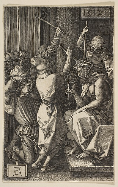 Christ Crowned with Thorns, from the Engraved Passion, Albrecht Dürer (German, Nuremberg 1471–1528 Nuremberg), Engraving