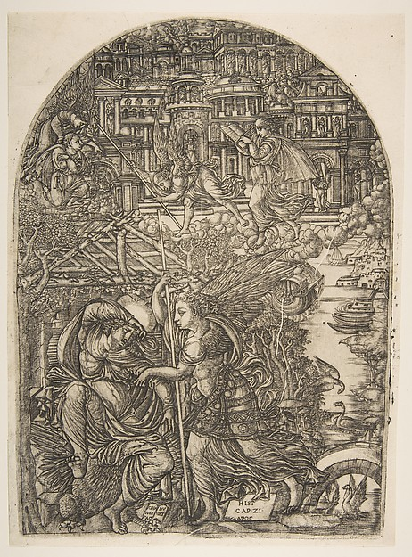 The Angel shows Saint John the New Jerusalem, from the Apocalypse, Jean Duvet (French, ca. 1485–after 1561), Engraving