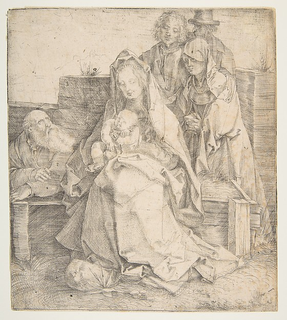 The Holy Family, Albrecht Dürer (German, Nuremberg 1471–1528 Nuremberg), Drypoint