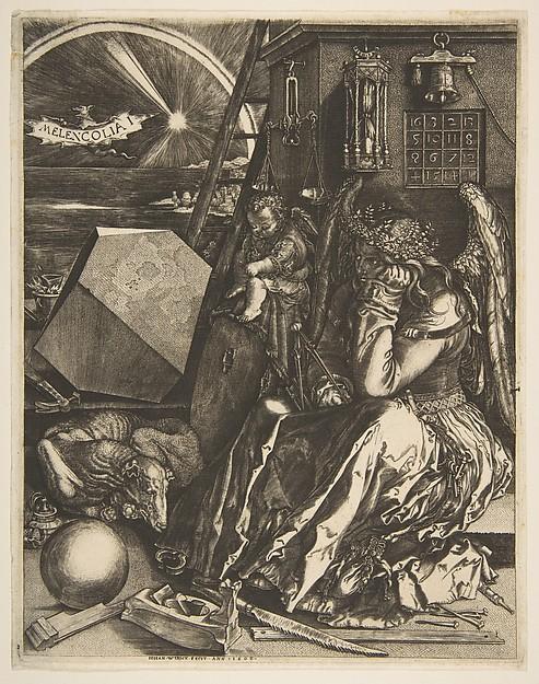 Melencolia I (copy), Jan (Johannes) Wierix (Netherlandish, Antwerp 1549–1615 Brussels), Engraving