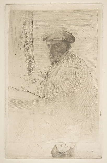 The Engraver Joseph Tourny, Edgar Degas (French, Paris 1834–1917 Paris), Etching (only state); fourth printing on laid paper (with corrosion partly cleaned and additional scratches)