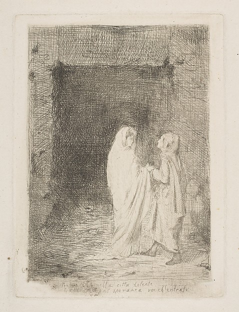 Dante and Virgil, Edgar Degas (French, Paris 1834–1917 Paris), Etching and drypoint on laid paper; second state of three (only known impression)