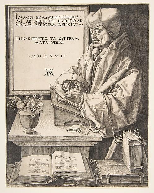 Erasmus of Rotterdam, Albrecht Dürer (German, Nuremberg 1471–1528 Nuremberg), Engraving