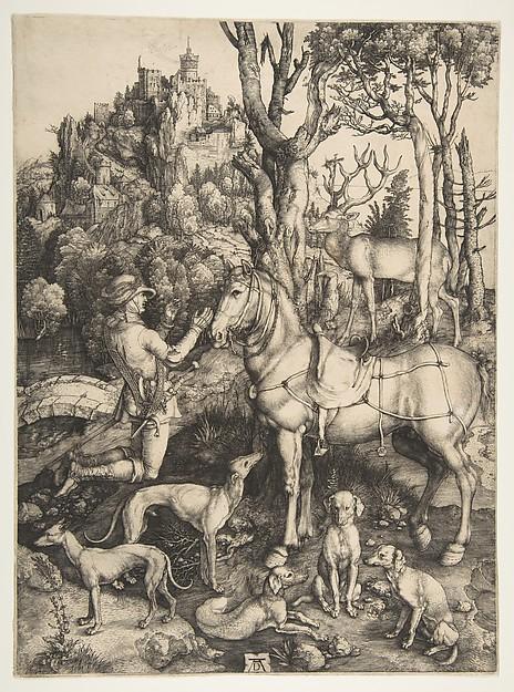Saint Eustace, Albrecht Dürer (German, Nuremberg 1471–1528 Nuremberg), Engraving
