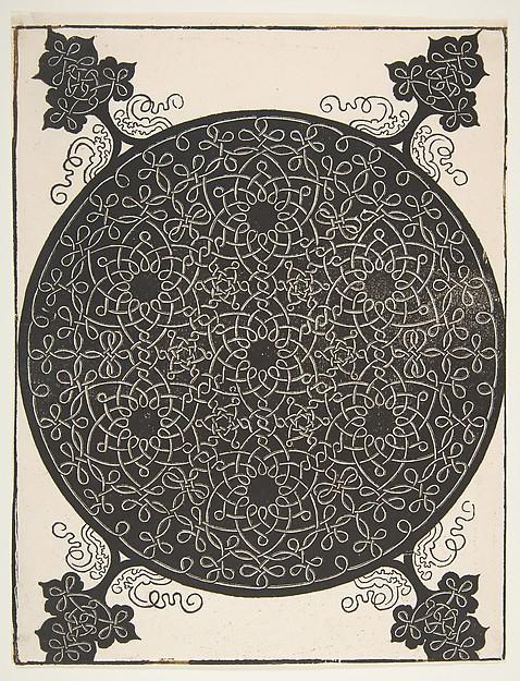 """The Fifth Knot"". Interlaced Roundel with Seven Six-pointed Stars, Albrecht Dürer (German, Nuremberg 1471–1528 Nuremberg), Woodcut"