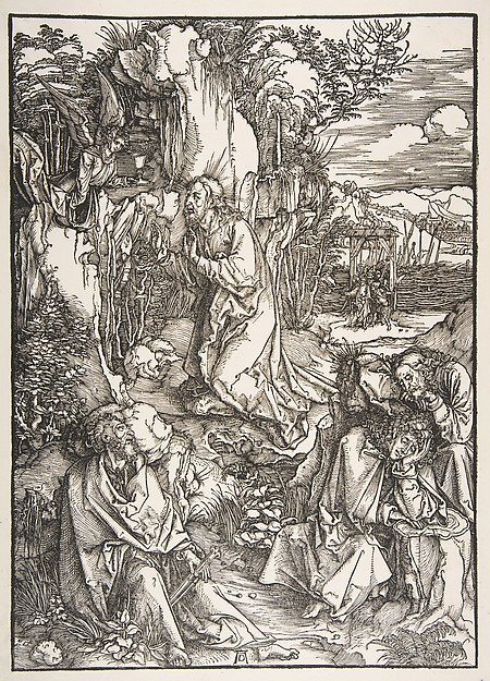 Christ on the Mount of Olives, from The Large Passion, Albrecht Dürer (German, Nuremberg 1471–1528 Nuremberg), Woodcut