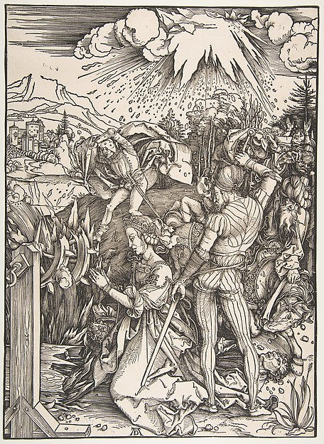 The Martyrdom of Saint Catherine, Albrecht Dürer (German, Nuremberg 1471–1528 Nuremberg), Woodcut