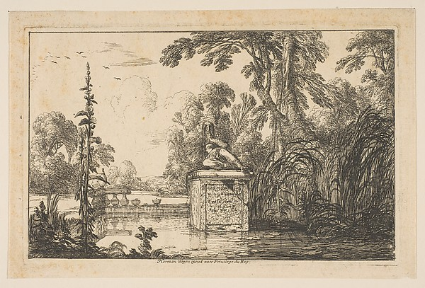 The Pond, Laurent de La Hyre (French, Paris 1606–1656 Paris), Etching; first state of two (Robert-Dumesnil)