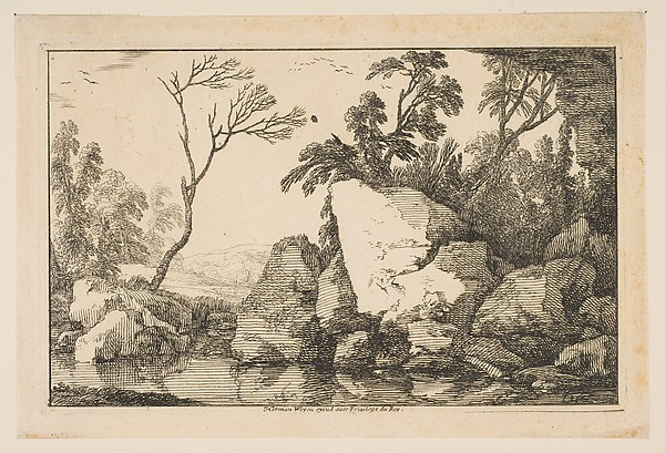 The Dead Tree, Laurent de La Hyre (French, Paris 1606–1656 Paris), Etching; first state of two (Robert-Dumesnil)
