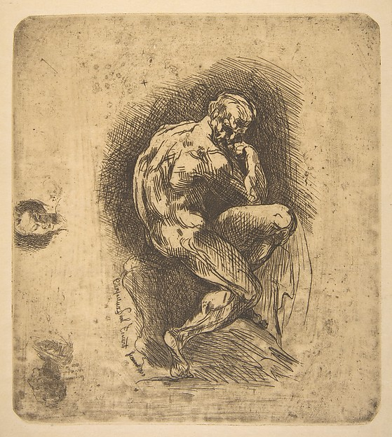 Ugolino, Jean-Baptiste Carpeaux (French, Valenciennes 1827–1875 Courbevoie), Etching