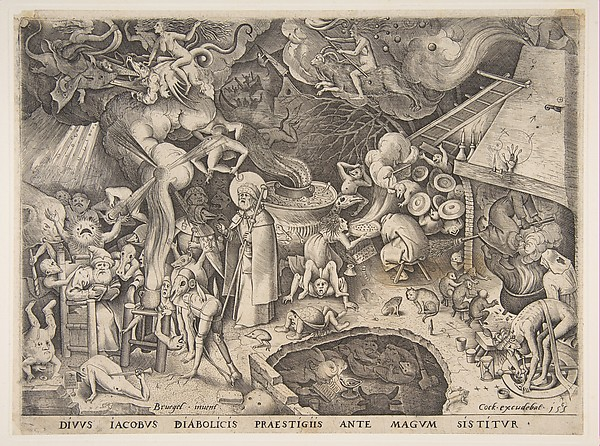 St. James and the Magician Hermogenes from The Story of the Magician Hermogenes, After Pieter Bruegel the Elder (Netherlandish, Breda (?) ca. 1525–1569 Brussels), Engraving; first state of three