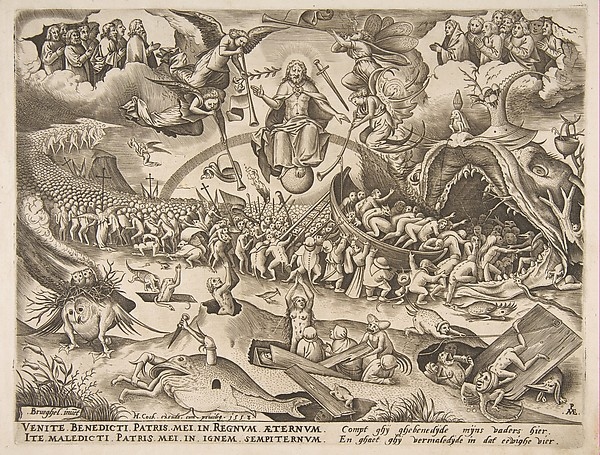 The Last Judgment, After Pieter Bruegel the Elder (Netherlandish, Breda (?) ca. 1525–1569 Brussels), Engraving; first state of two
