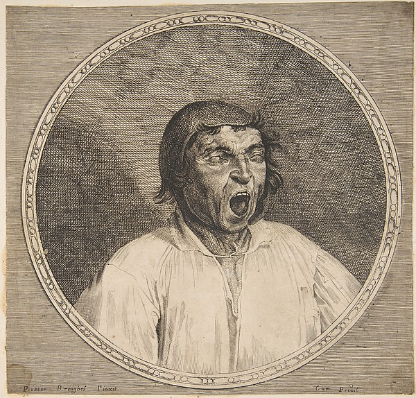A Peasant Yawning, Formerly attributed to Lucas Vorsterman I (Flemish, Zaltbommel 1595–1675 Antwerp), Engraving