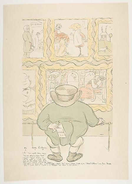 De Arte Pictoria, Max Beerbohm (British, London 1872–1956 Rapallo), Color lithograph