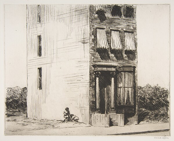 The Lonely House, Edward Hopper (American, Nyack, New York 1882–1967 New York), Etching