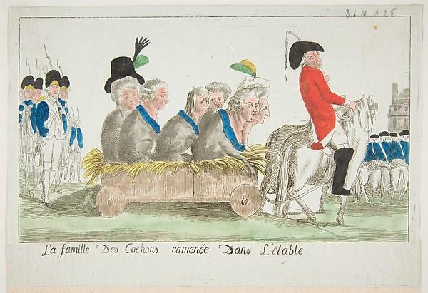 La famille des Cochons ramenée dans l'étable (The family of pigs pulled to the stable)