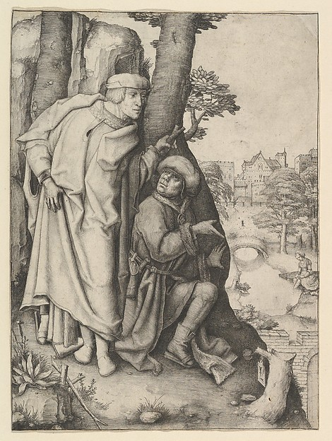 Susanna and the Two Elders, Lucas van Leyden (Netherlandish, Leiden ca. 1494–1533 Leiden), Engraving