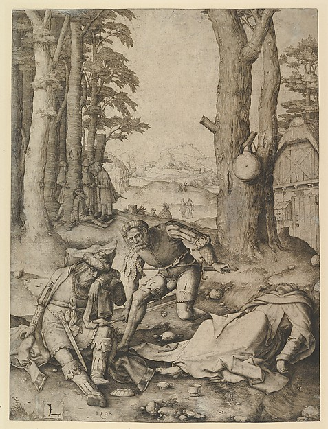 Mohammed and the Monk Sergius, Lucas van Leyden (Netherlandish, Leiden ca. 1494–1533 Leiden), Engraving