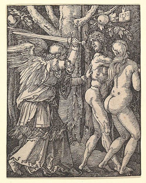 The Expulsion from Paradise, from The Small Passion, Albrecht Dürer (German, Nuremberg 1471–1528 Nuremberg), Woodcut