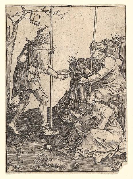 The Beggars, After Lucas van Leyden (Netherlandish, Leiden ca. 1494–1533 Leiden), Engraving