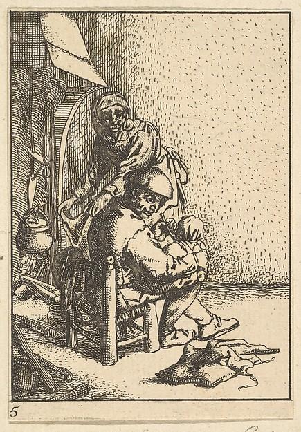 Father Feeding his Child, After Adriaen van Ostade (Dutch, Haarlem 1610–1685 Haarlem), Etching