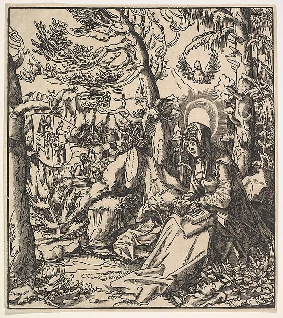 Saint Ita (of Toggenburg), from the Habsburg Saints, Leonhard Beck (German, 1480–1542), Woodcut