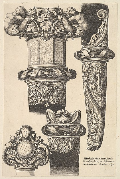 Daggars and scabbards, Wenceslaus Hollar (Bohemian, Prague 1607–1677 London), Etching; first state of two
