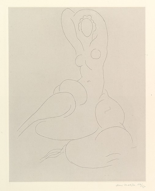Nude for Cleveland, Henri Matisse (French, Le Cateau-Cambrésis 1869–1954 Nice), Etching on chine collé