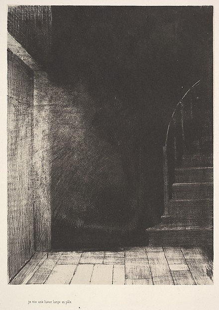 I saw a flash of light, large and pale, Odilon Redon (French, Bordeaux 1840–1916 Paris), Lithograph