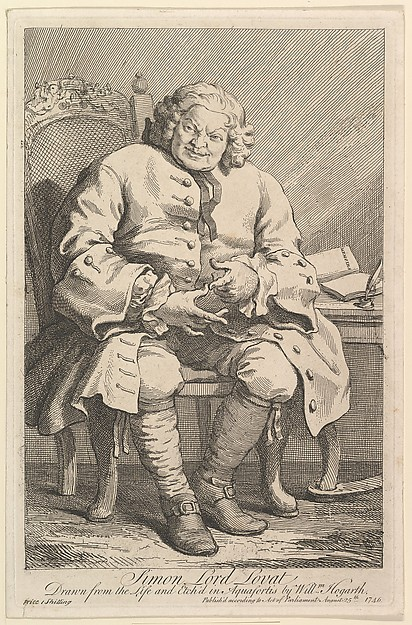 Simon Lord Lovat, William Hogarth (British, London 1697–1764 London), Etching and engraving; second state of three