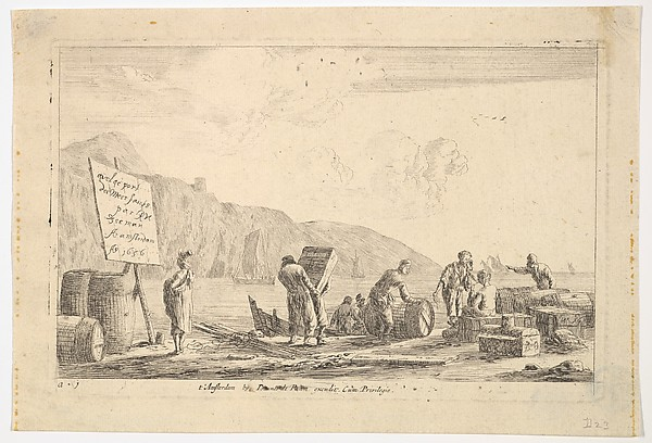 Seaport Scene, Reinier Nooms, called Zeeman (Dutch, Amsterdam ca. 1623–1664 Amsterdam), Etching; state IV